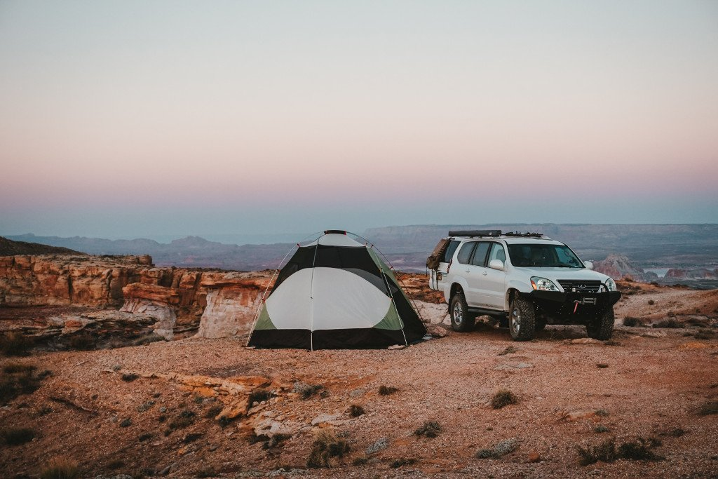Photo of backcountry campsite in Utah