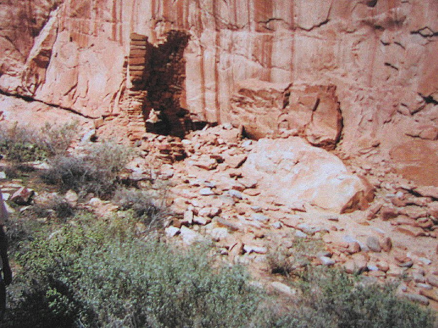 A single wall stands in an Arch Canyon ruin